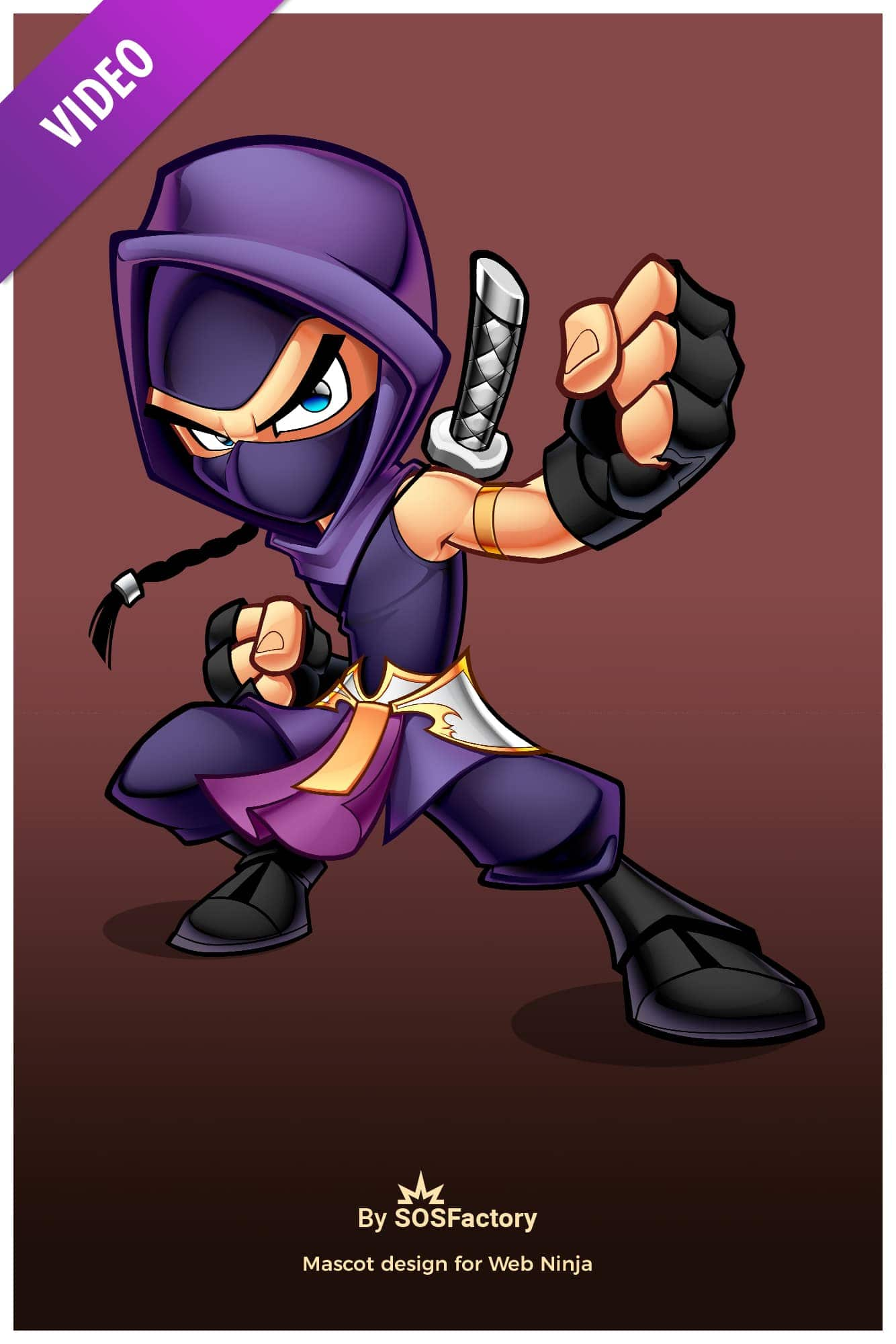 web ninja mascot design