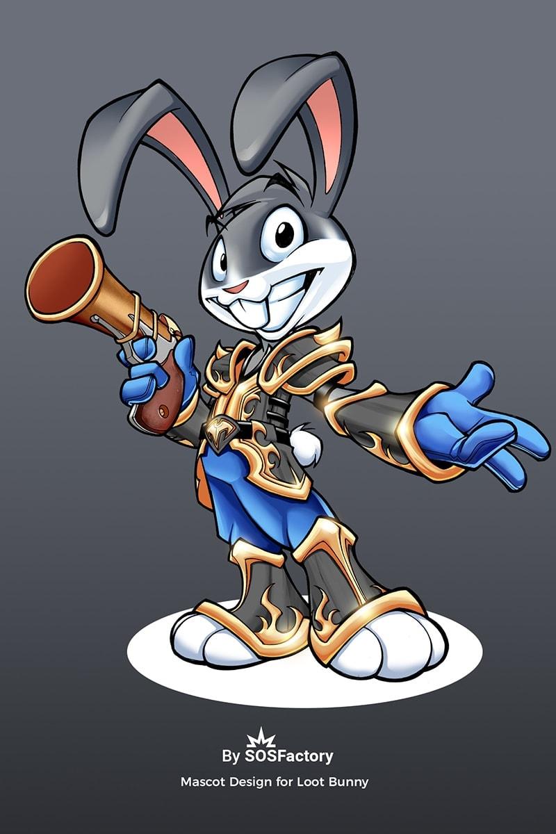 mascot design bunny