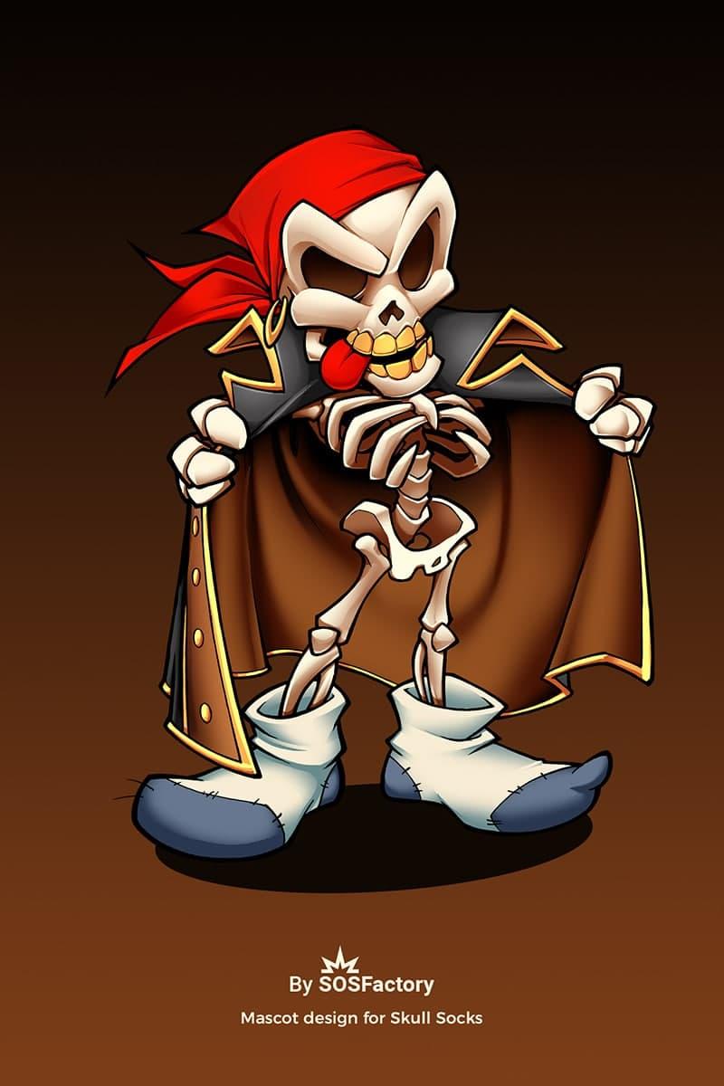 skullsocks mascot design