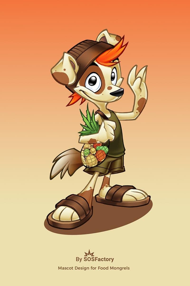 mascot design food mongrels
