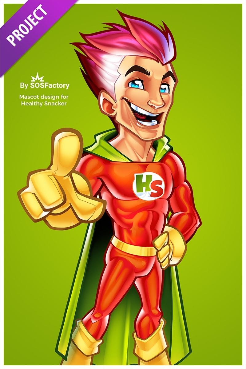 healthy snacker mascot design