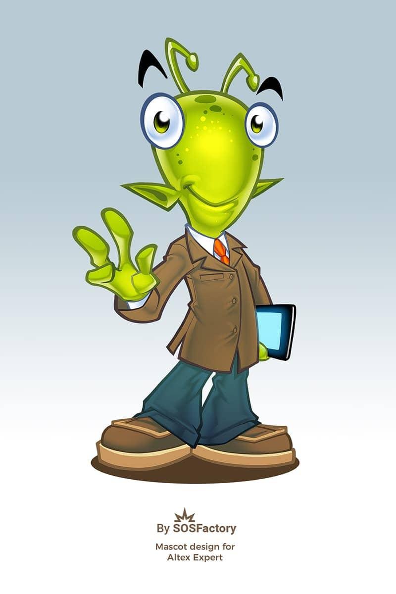 mascot design for altex expert