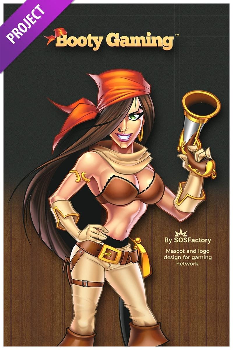 booty gaming mascot design