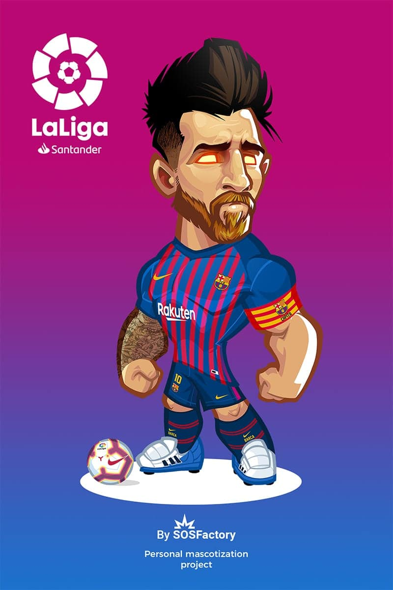 leo messi caricature