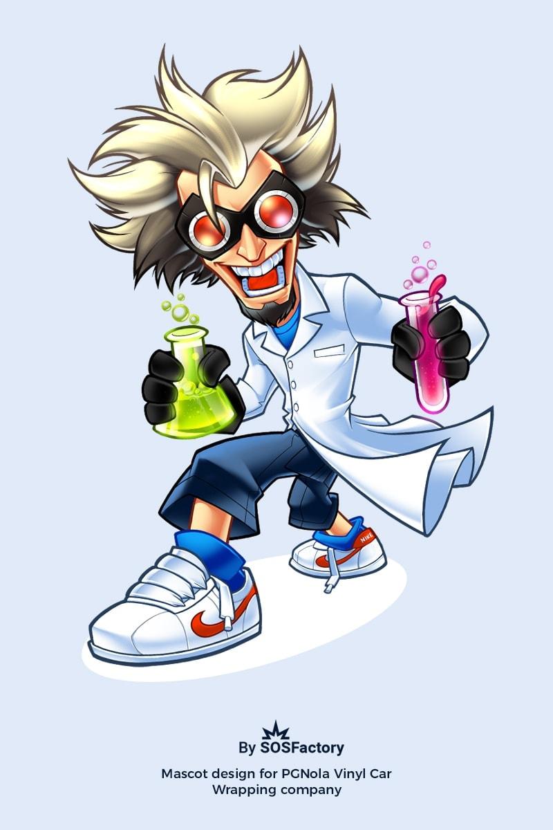 professor mascot design