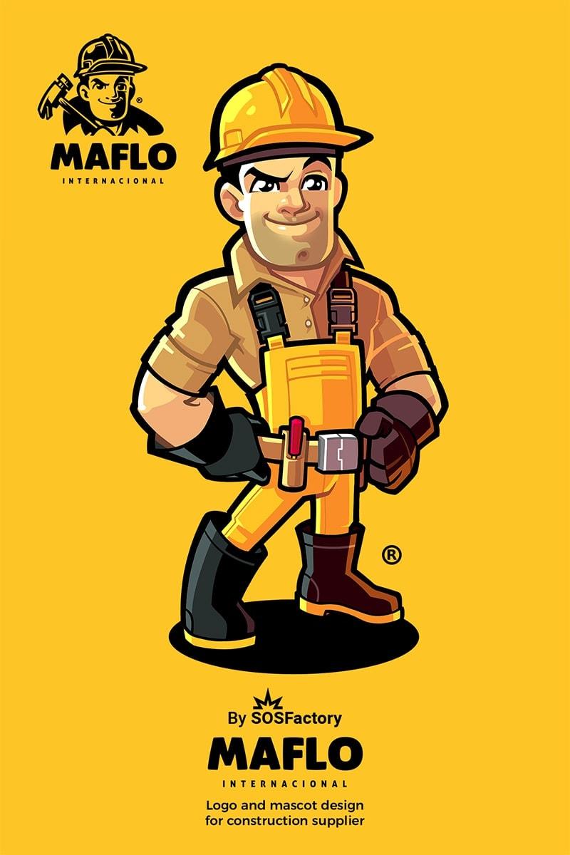 maflo mascot logo design