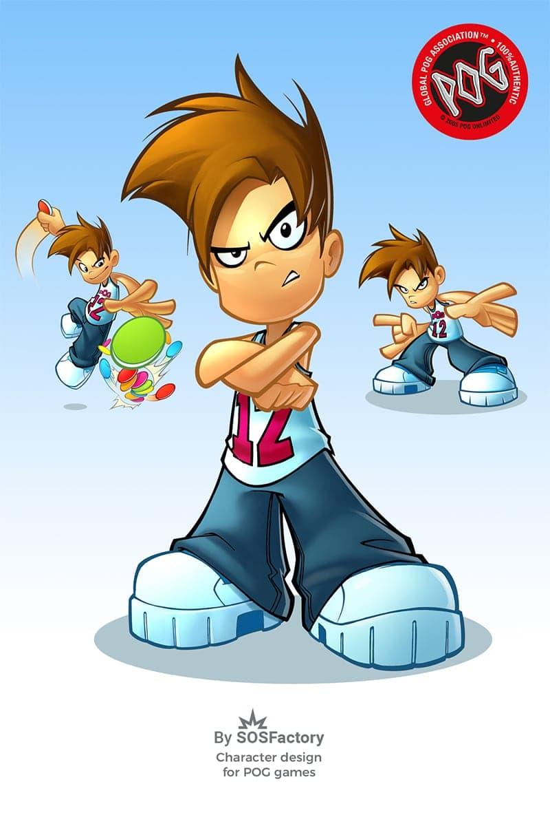 pog kid character design