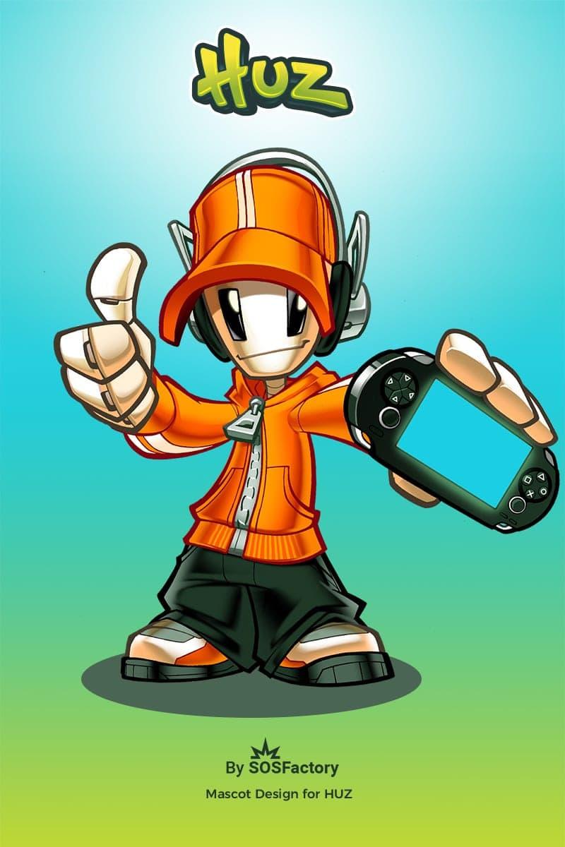 kid robot mascot design