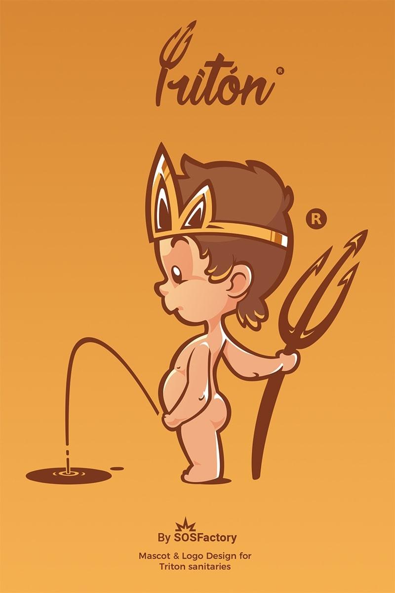 triton mascot design
