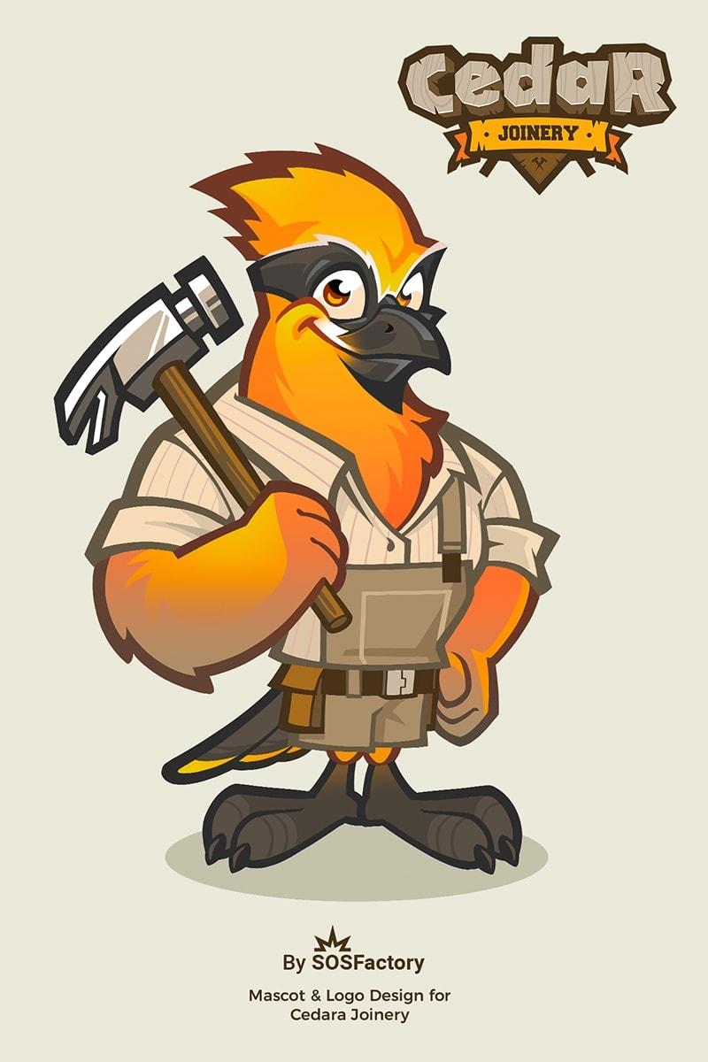 cedar joinery mascot and-logo