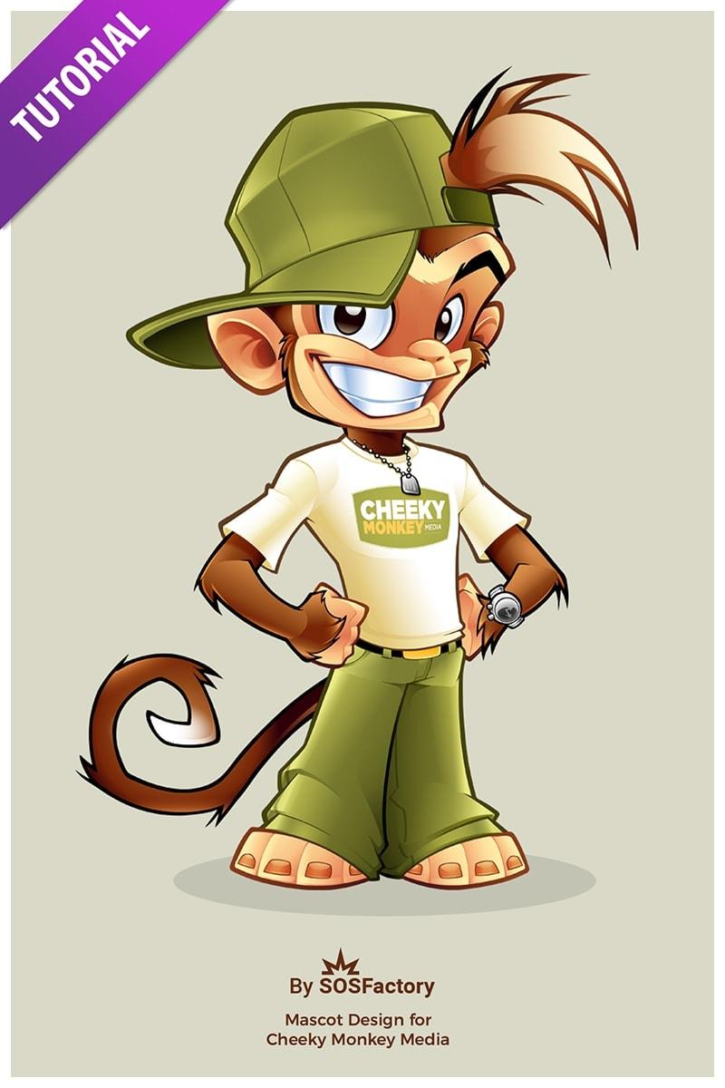 cheeky monkey media mascot design