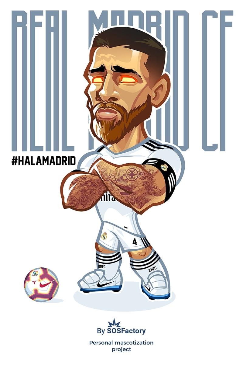 Sergio Ramos caricature