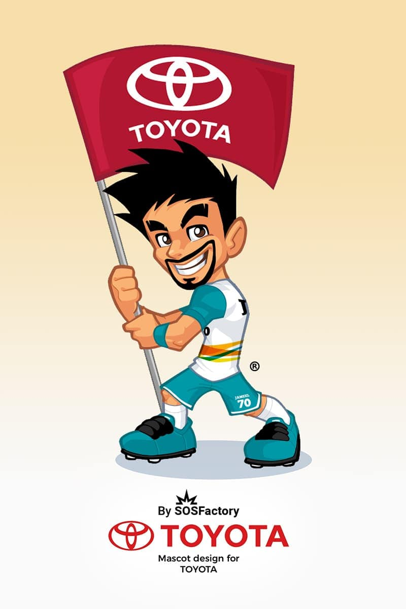 jameel mascot design for Toyota