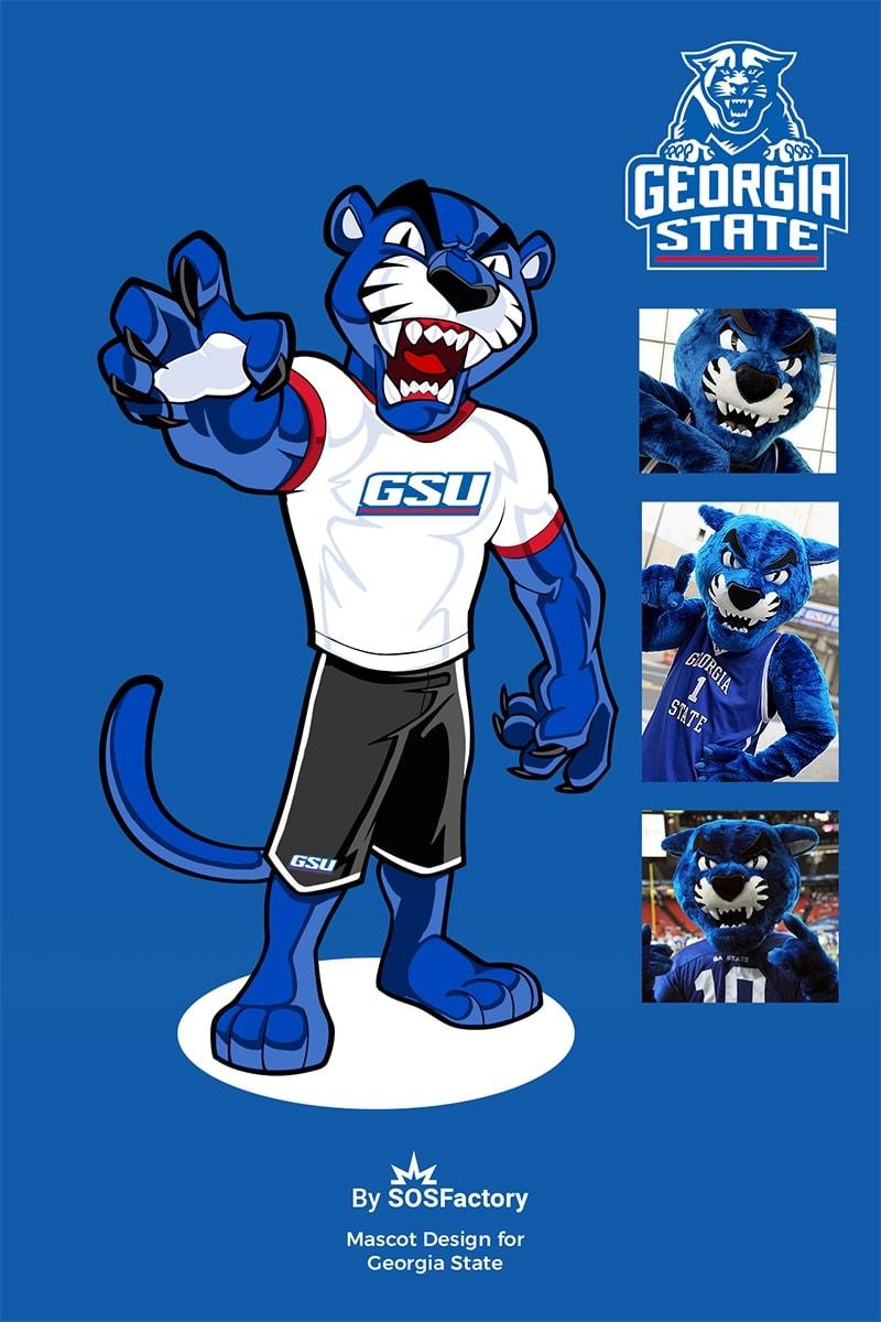 Georgia State sport mascot design
