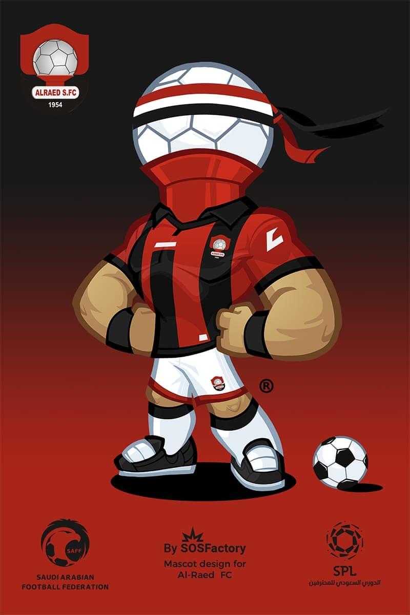 Al Raed mascot design