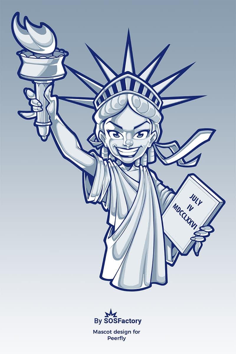 lady liberty mascot design