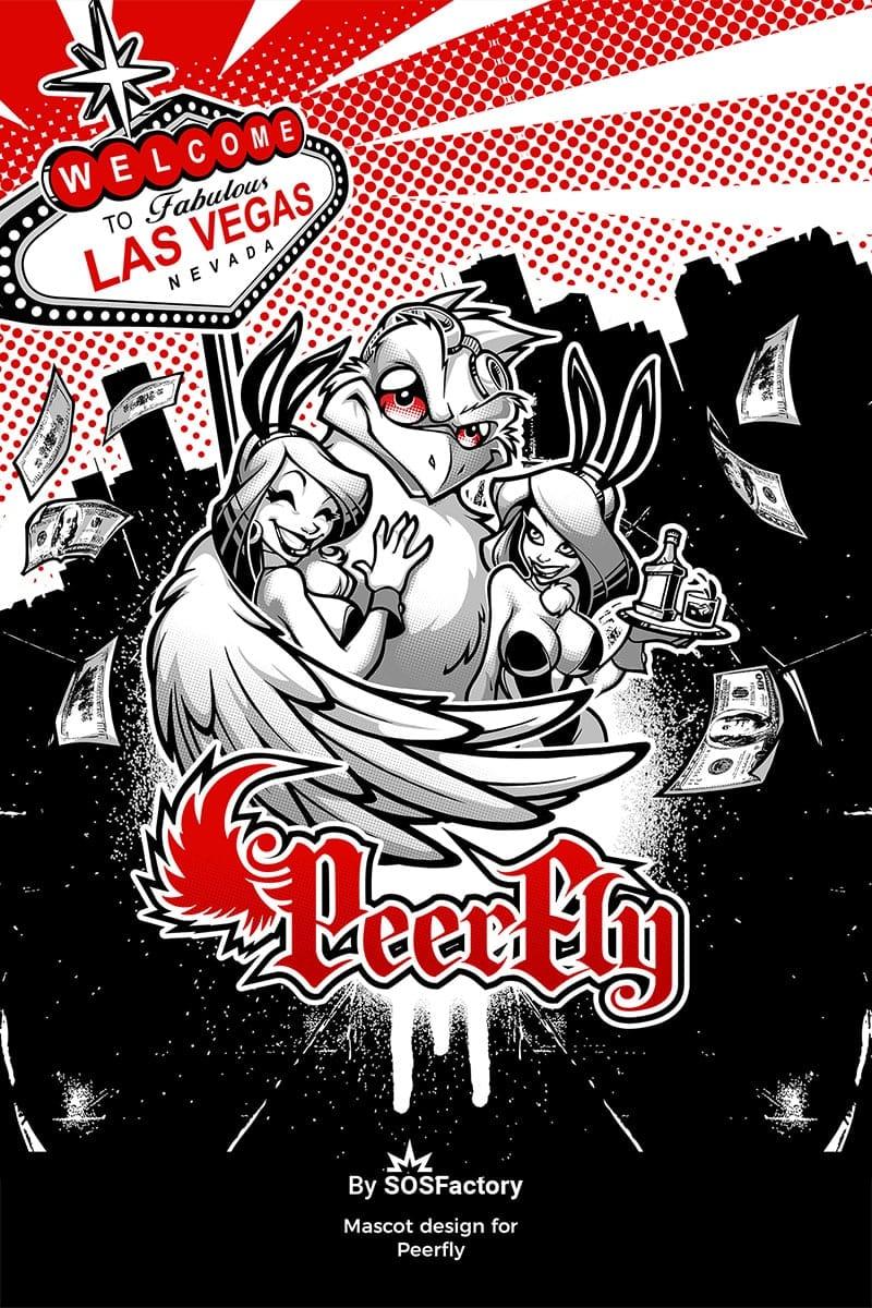 Peerfly mascot design