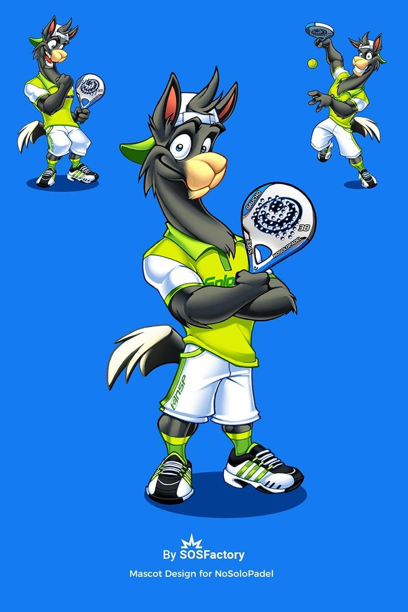 lama sport mascot design
