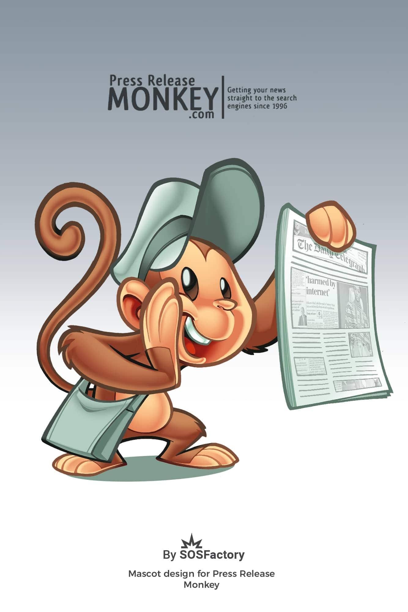 Monkey mascot design for PRM
