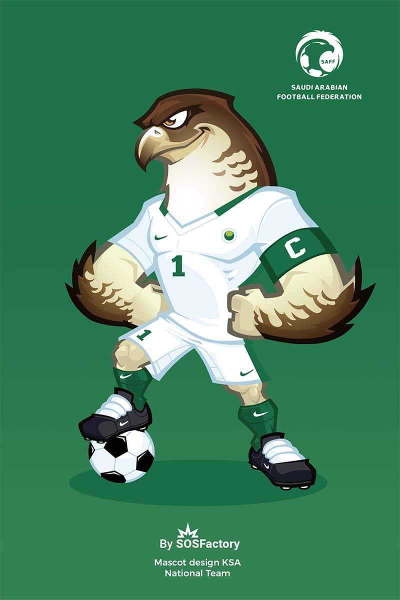 ksa national football team mascot design