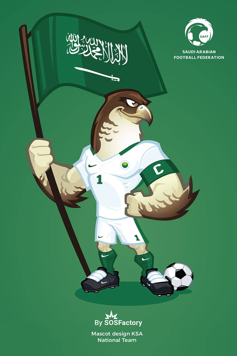 ksa national football team mascot design