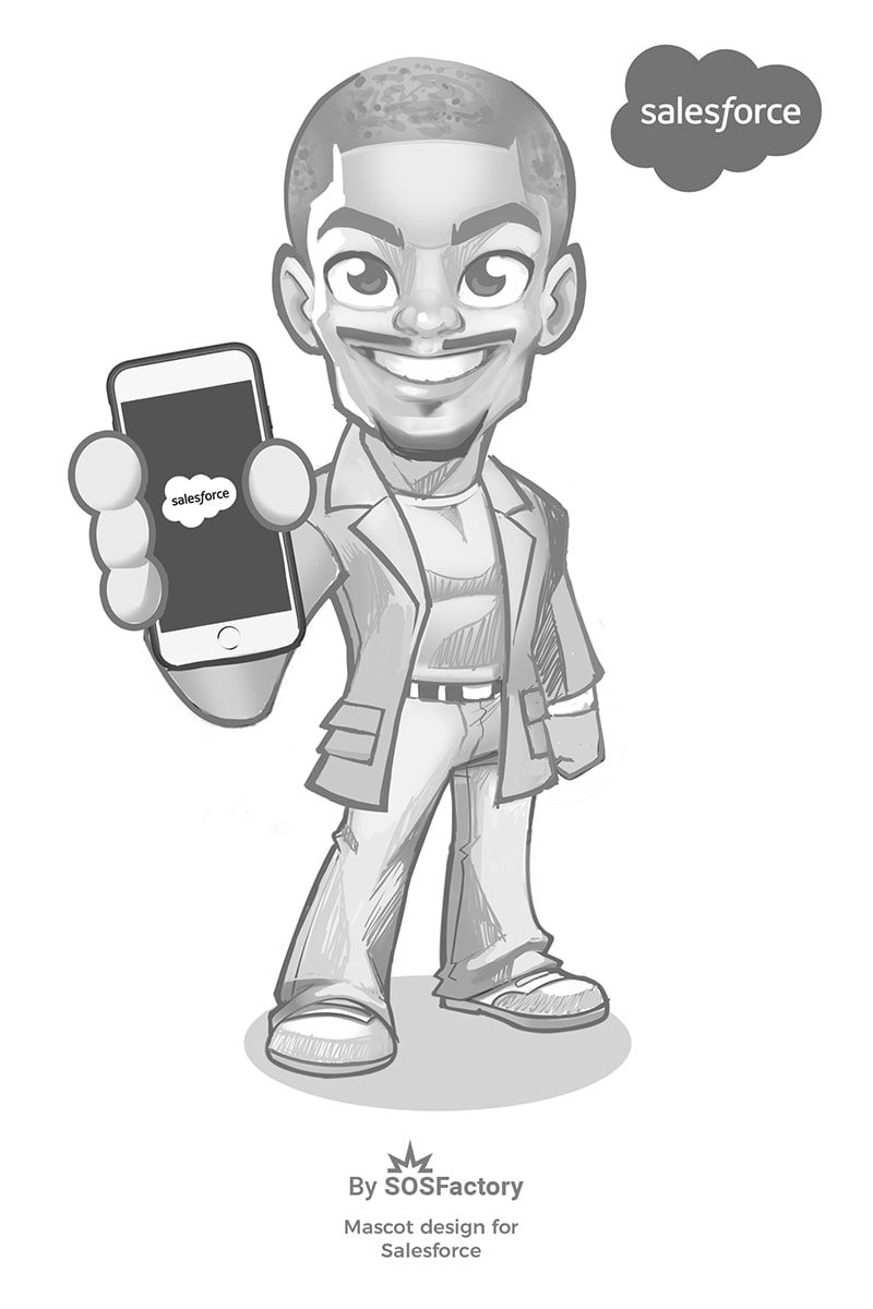 salesforce mascot design