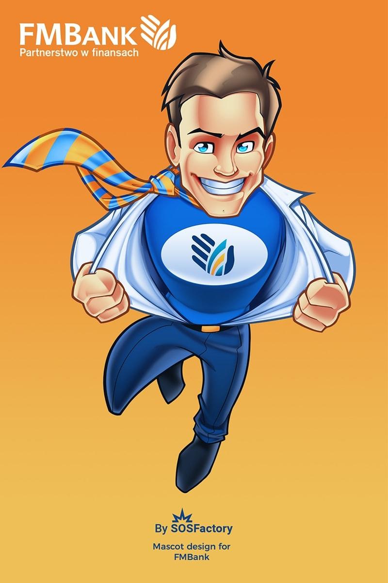 Mascot design for FMBank