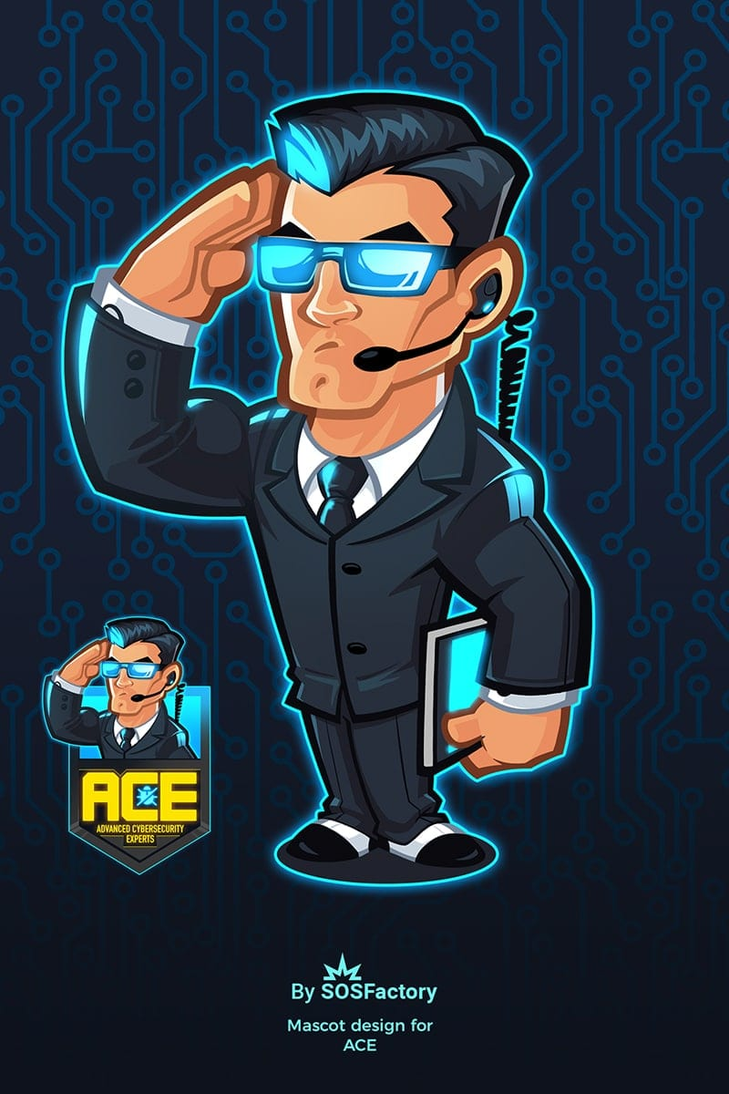 ace security group mascot logo