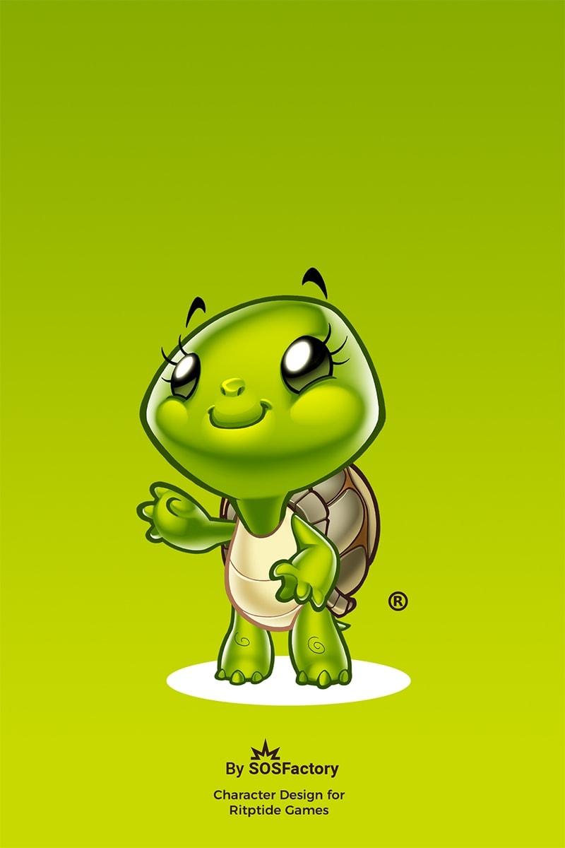 turtle mascot design