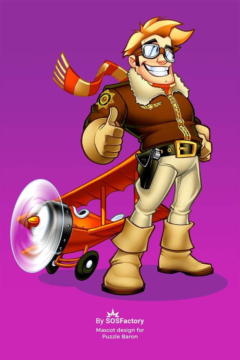 Puzzle Baron mascot design