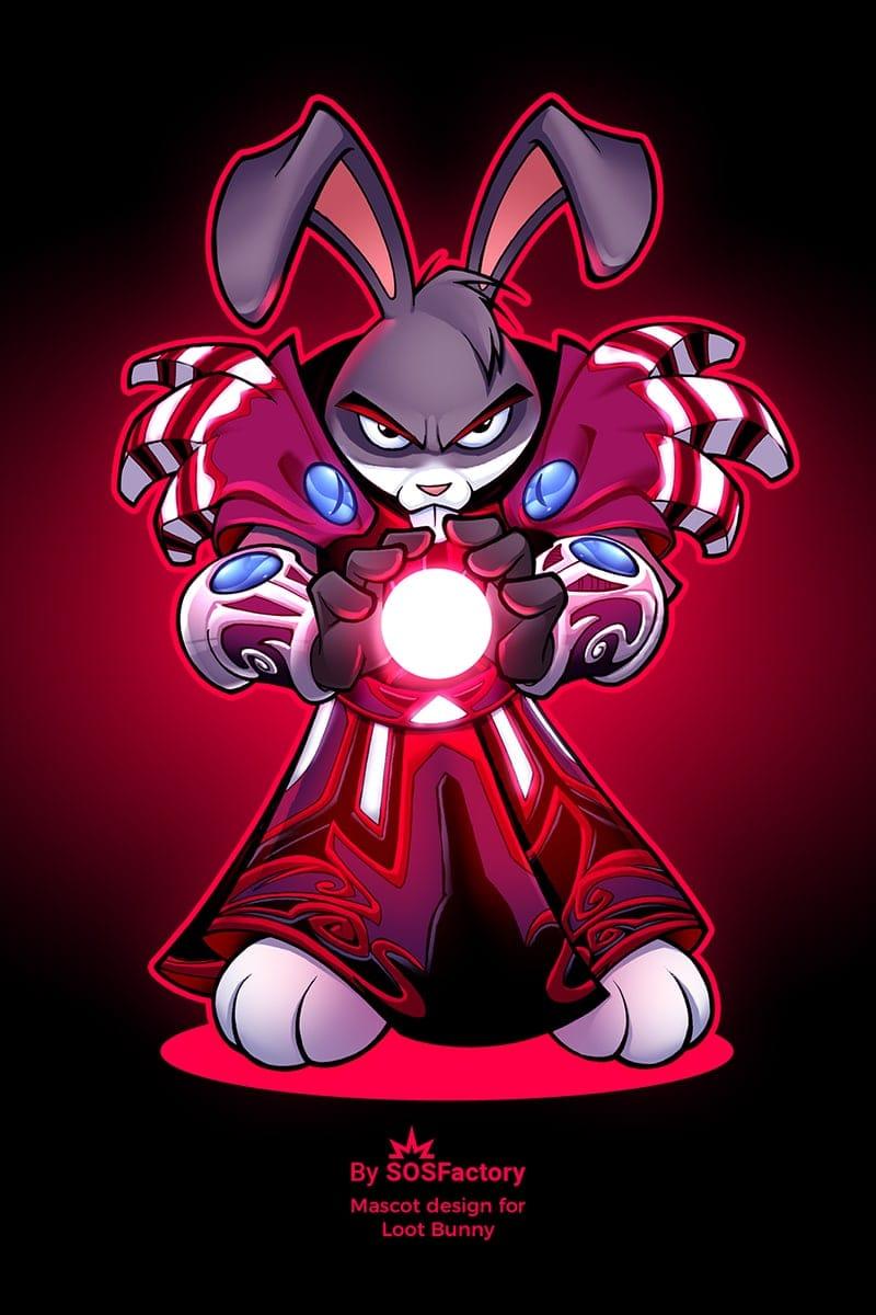loot bunny mascot design