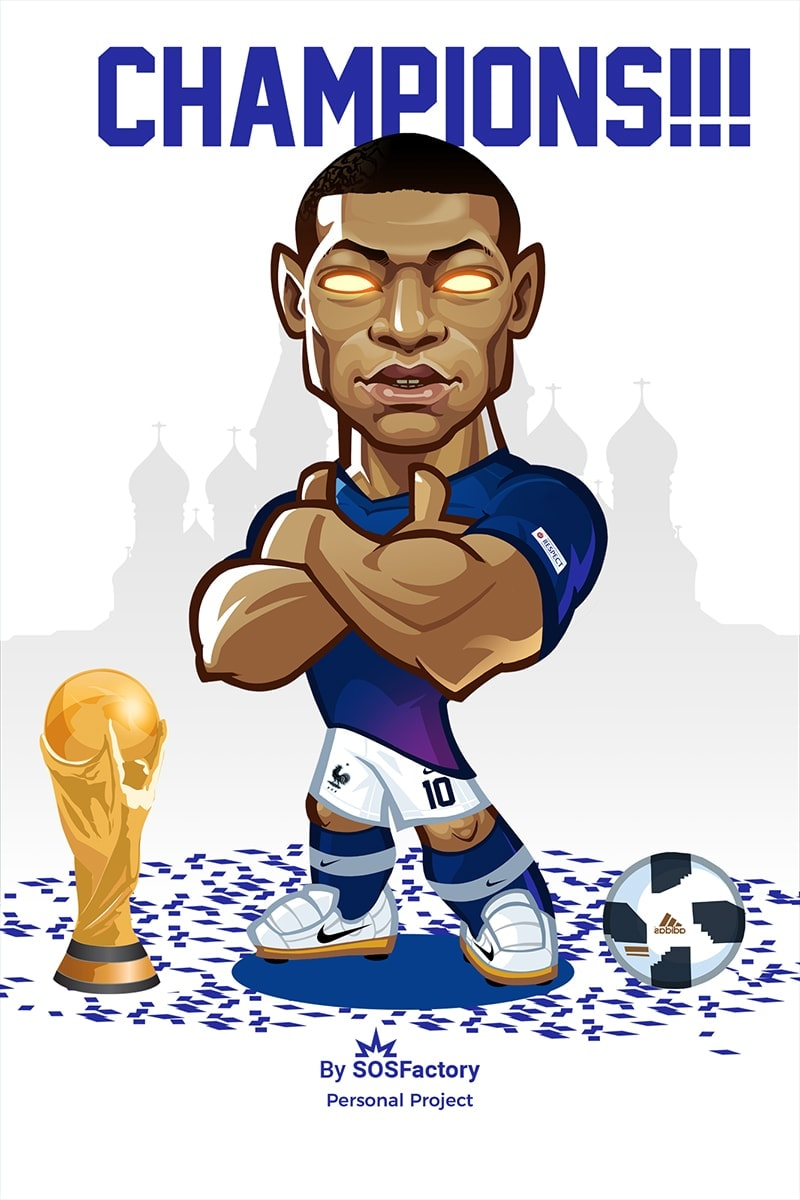 Mbappe Caricature