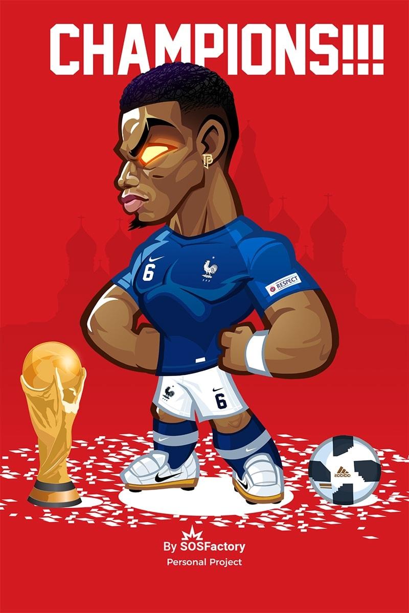 Paul Pogba Caricature
