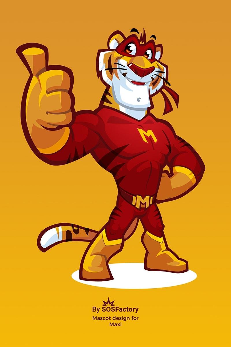 Tiger mascot design for Maxi