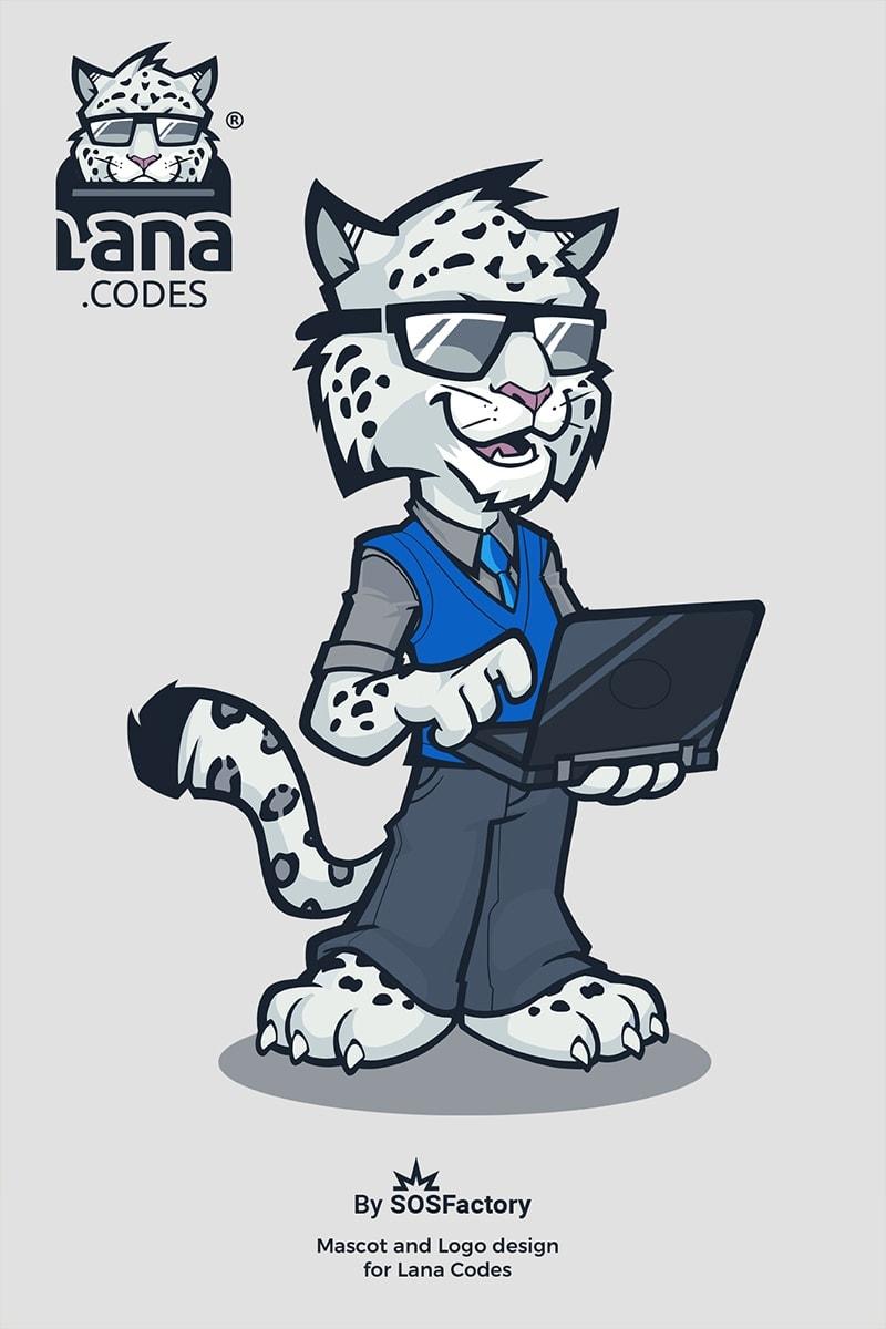 Lana Codes mascot design