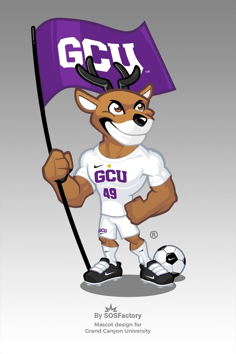 grand canyon university mascot design