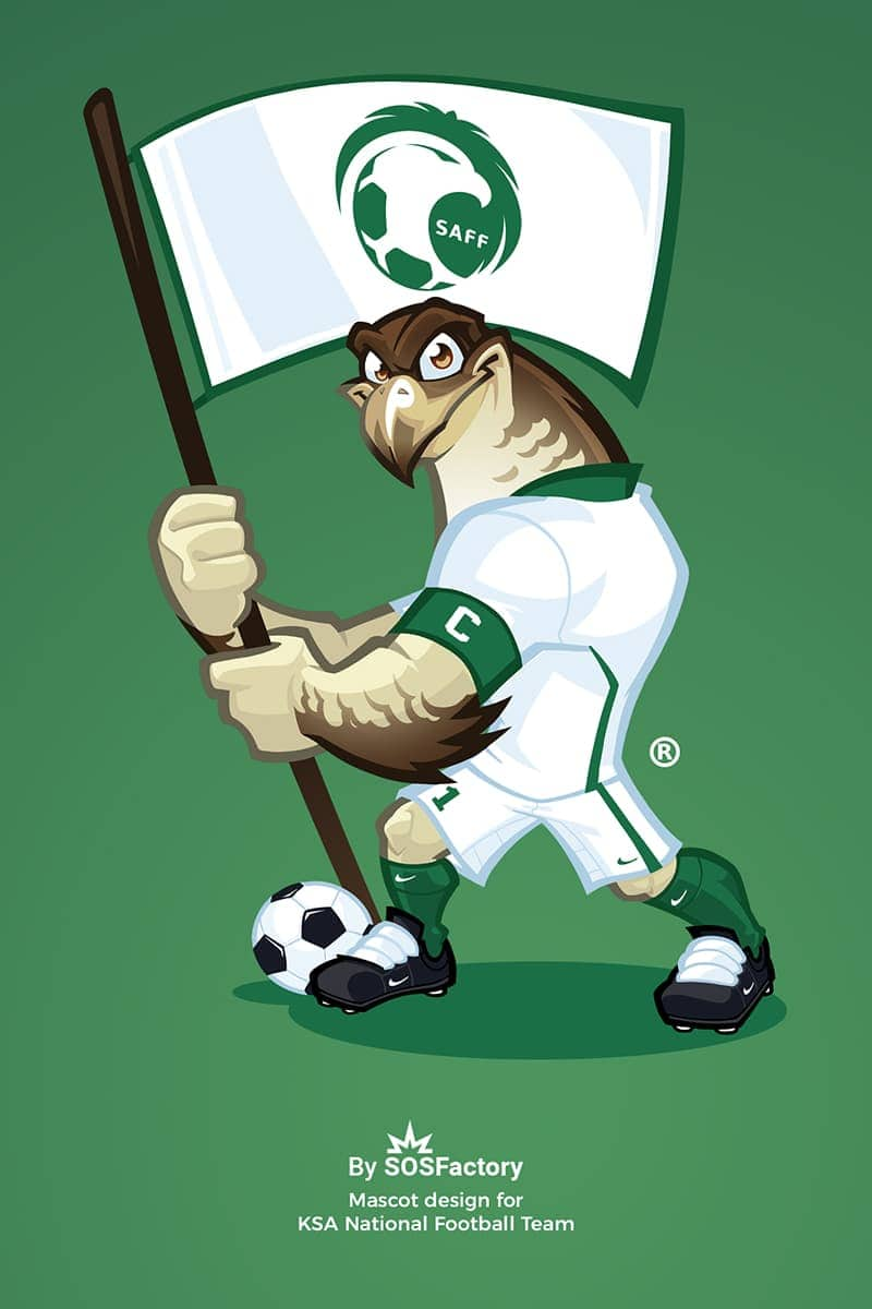 KSA National team mascot design