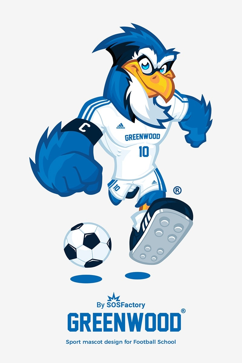 Greenwood sport mascot design