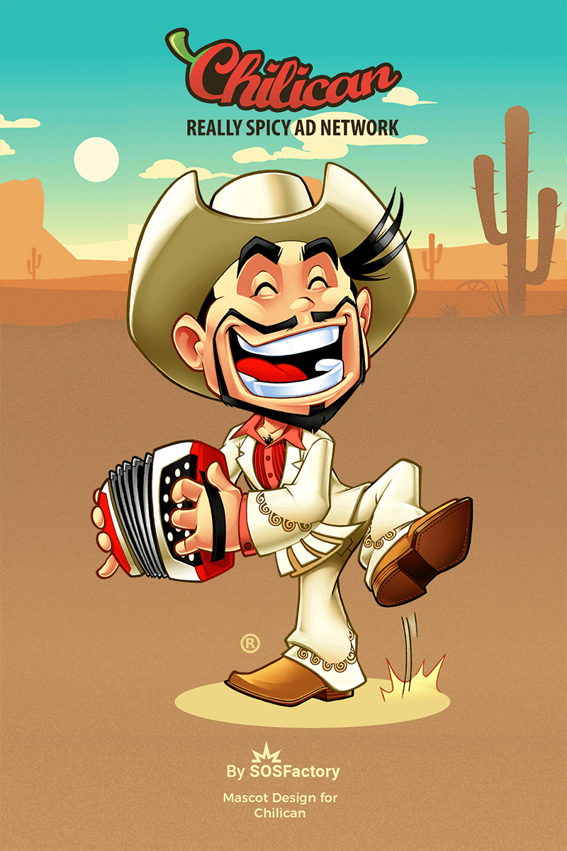 Mascot design for Chilican