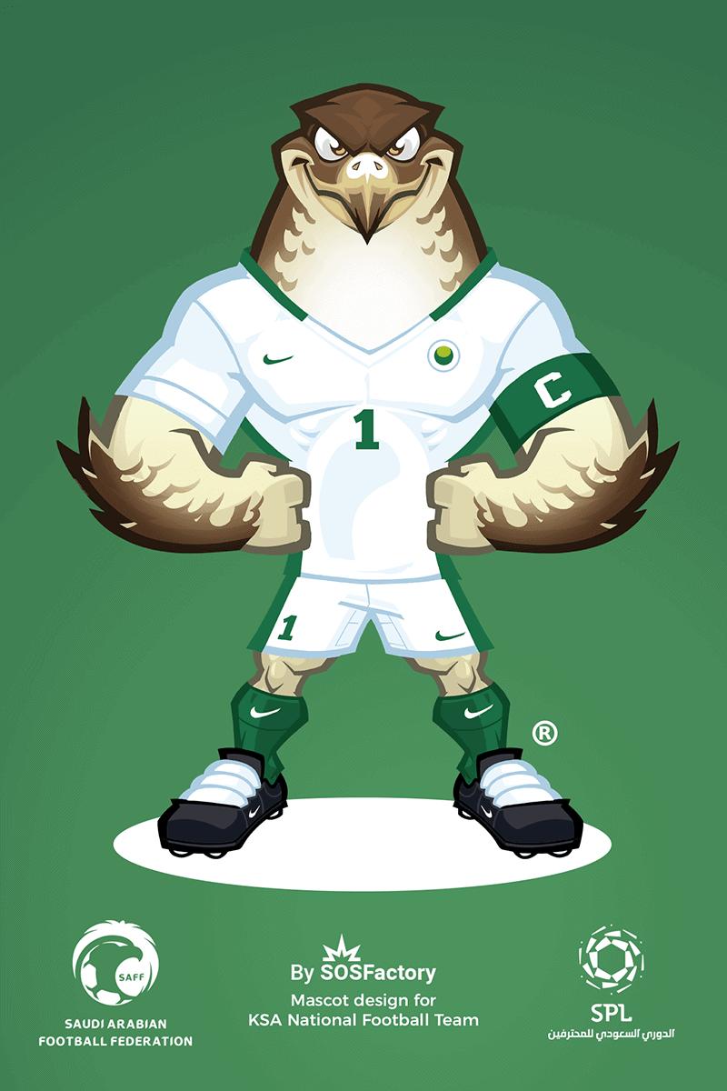 Mascot design for KSA national team