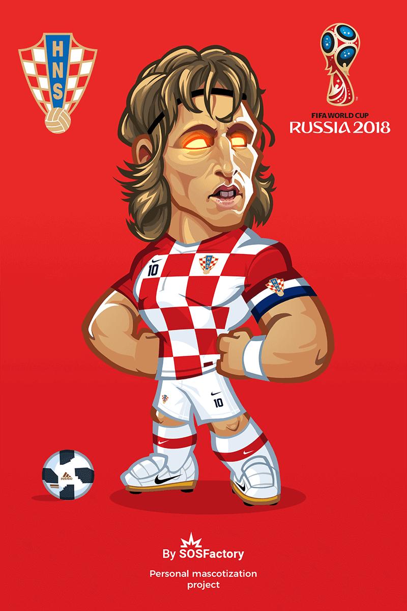 Luka Modric Caricature