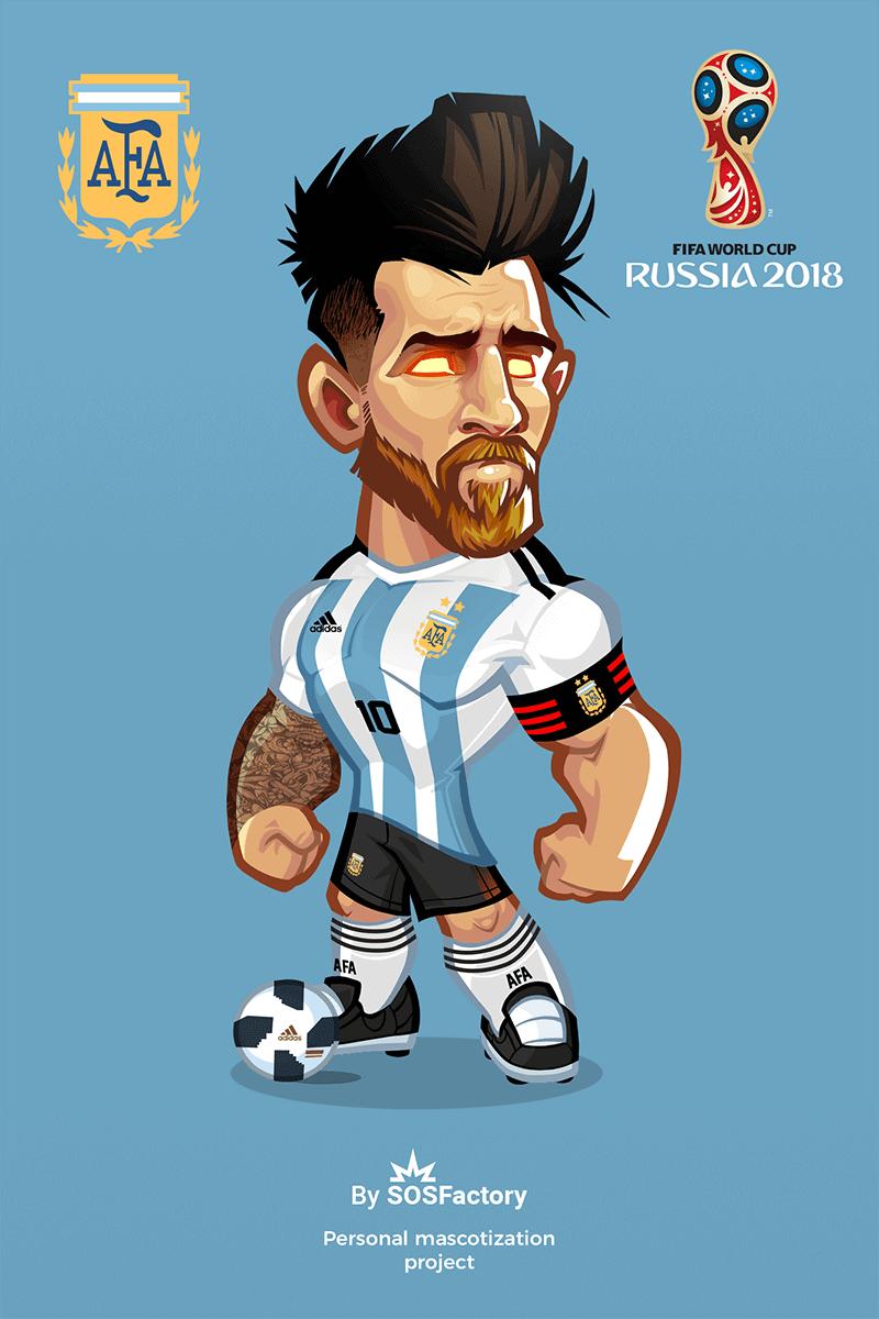 Lionel Messi Caricature