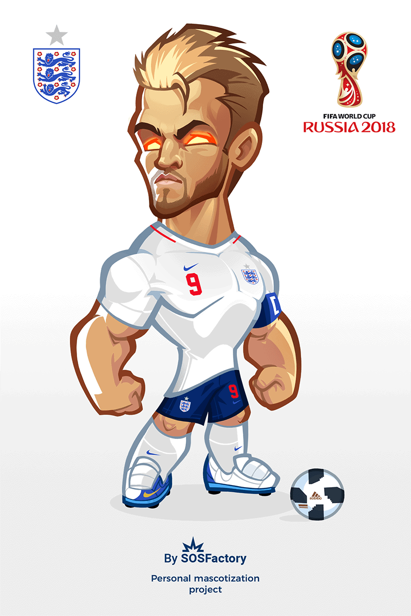 Harry Kane caricature