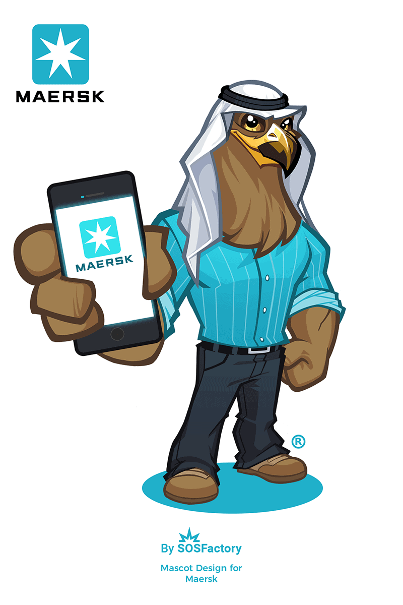 Mascot design for Maersk