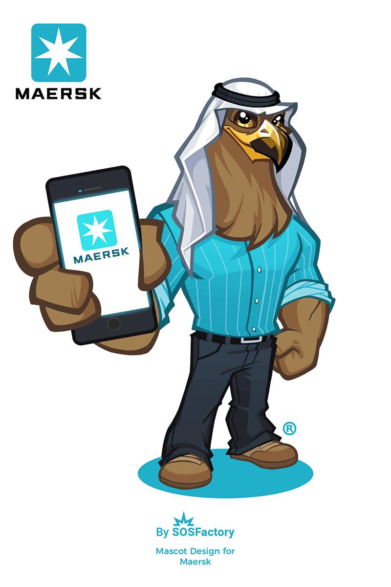 Mascot design for Maersk