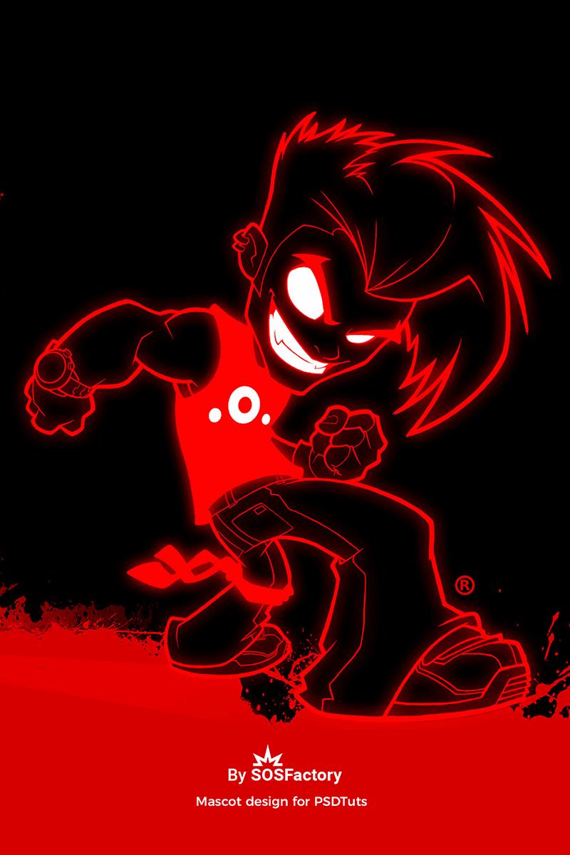 Mascot design for PSDTuts