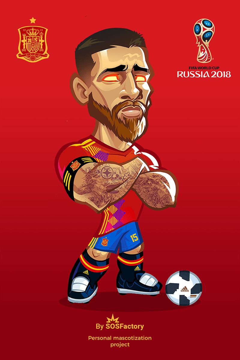 Russia 2018 Sergio Ramos