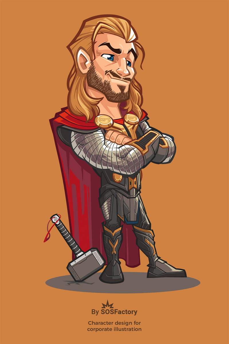 Thor cartoon comic