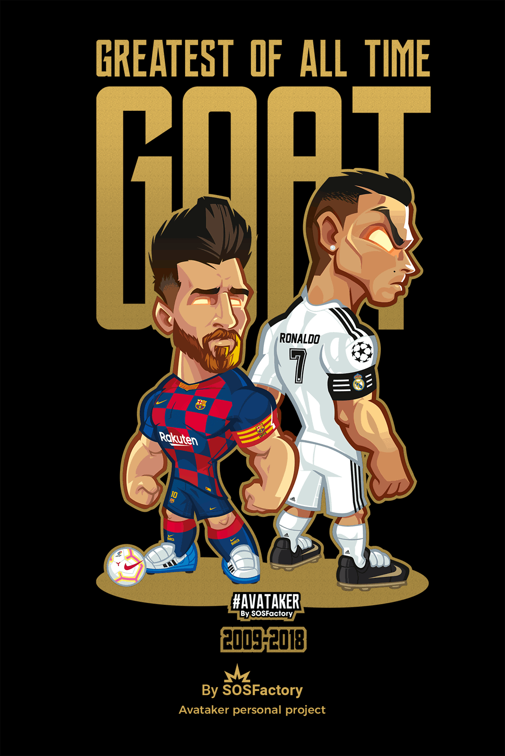 Messi vs Cristiano Tshirt