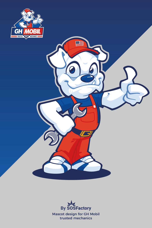 Mascot character bulldog